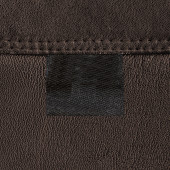 Leather texture, blank tag, seam — Stock Photo