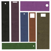Set of multicolor blank cardboard tags  — Stock Photo