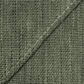 Gray-green tweed texture closeup, seam.stitches — Stock Photo