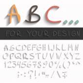 Hand draw abc — Stock Vector
