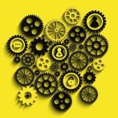 Gears background — Stock Vector