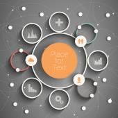 Circle info — Stock Vector