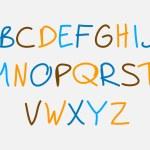 Hand drawn alphabet — Stock Vector #68174805