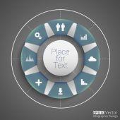Round design — Stock Vector