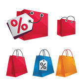 Vector colorful shopping package — Stock Vector