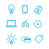 Vector elements icons — Stock Vector