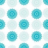Vector seamless pattern, abstract blue snowflakes, winter background — Stock Vector