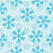 зимний фон, вектор бесшовный фон со снежинками — Cтоковый вектор