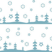 Vector seamless pattern winter, christmas — Vector de stock