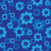Vector abstract seamless pattern, blue color — Vector de stock