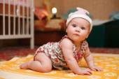 Bright picture of adorable baby girl — Stock Photo