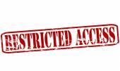 Restricted access — Vector de stock