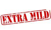 Extra mild — Stock Vector
