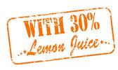 Met citroensap — Stockvector