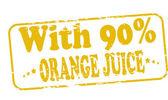 With orange juice — Stock Vector