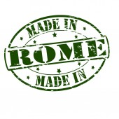 Gemaakt in rome — Stockvector