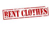 Rent clothes — Stock Vector