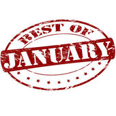 Best of January — Stock Vector