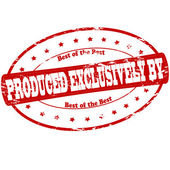 Produced exclusively — Stock Vector