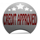 Credit approved — Stock Vector