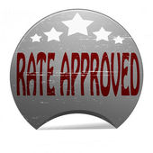 Rate approved — Stock Vector