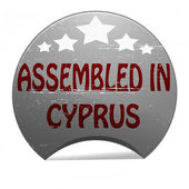Assembled in Cyprus — Stockvektor