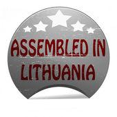 Assembled in Lithuania — Stockvektor