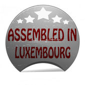 Assembled in Luxembourg — Stockvektor