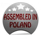 Assembled in Poland — Stockvektor
