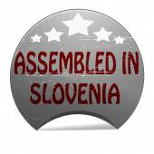 Assembled in Slovenia — Stock Vector