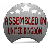 Assembled in United Kingdom — Stockvector