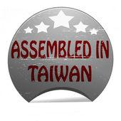 Assembled in Taiwan — Stockvektor