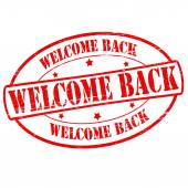 Welcome back — Stock Vector