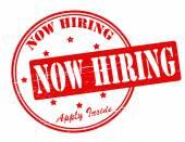 Now hiring — Stock Vector