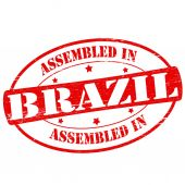 Assembled in Brazil — Stock Vector