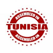 Assembled in Tunisia — Stock vektor