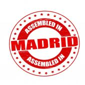 Assembled in Madrid — Stock Vector