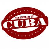 Assembled in Cuba — Stock Vector