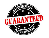 Authentic guaranteed — Stock Vector