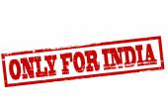 Only for India — Stockvektor