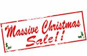 Massive Christmas sale — Stock Vector
