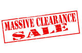 Massive clearance sale — Stock Vector