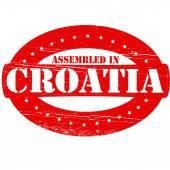 Assembled in Croatia — Stock Vector