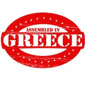 Assembled in Greece — Stock Vector