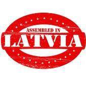 Assembled in Latvia — Stock Vector