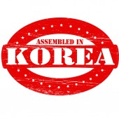 Assembled in Korea — Stock Vector