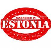 Assembled in Estonia — Stock Vector