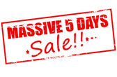 Massive five days sale — Stock Vector
