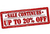 Até 20% de desconto — Vetor de Stock