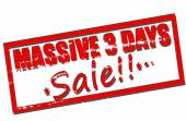 Massive three days sale — Vector de stock